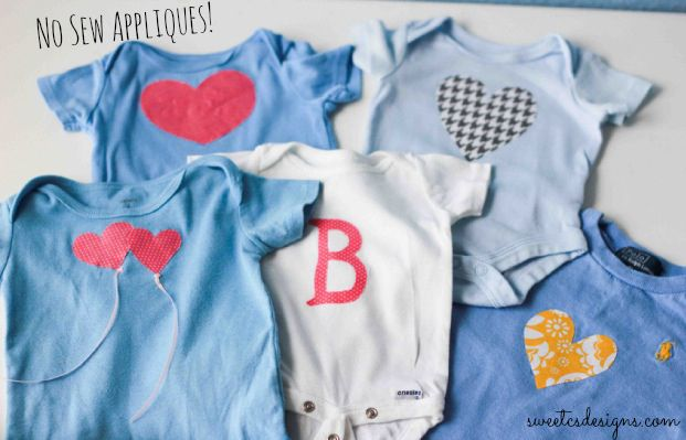no sew appliques to quickly and easily turn a baby boy clothes into