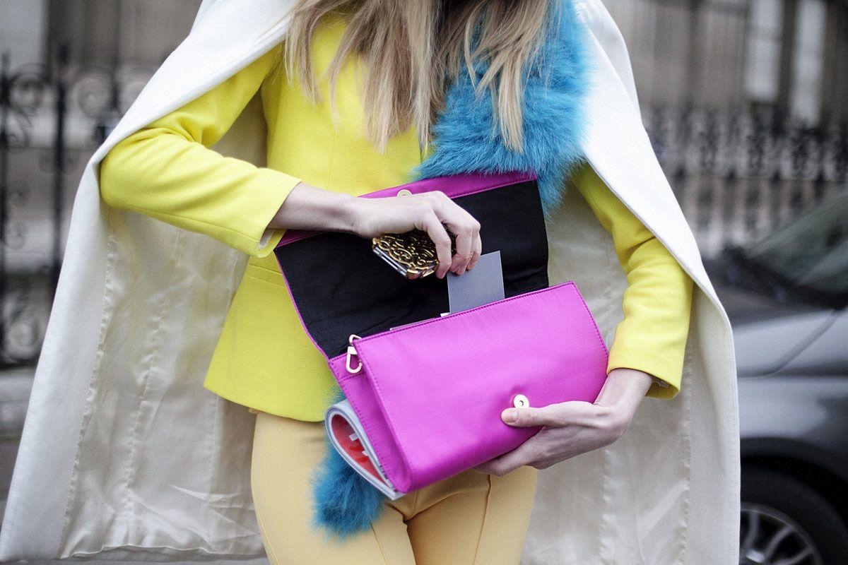 París Fashion Week  cuando la mezcla de colores es todo un acierto!