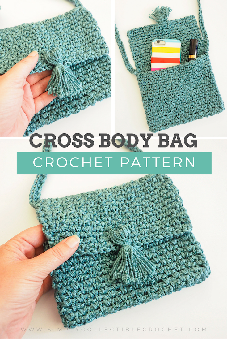 Cute Cross Body Bag Crochet Pattern Crocheted Bags Crochet