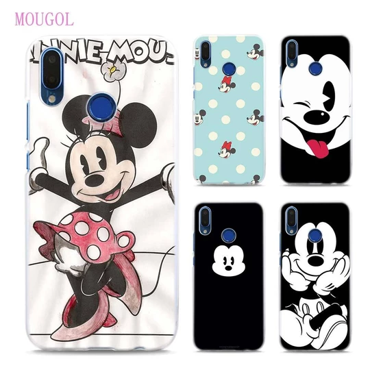 MOUGOL Mickey Minnie Funny Face Transparent hard Phone cases cover ...