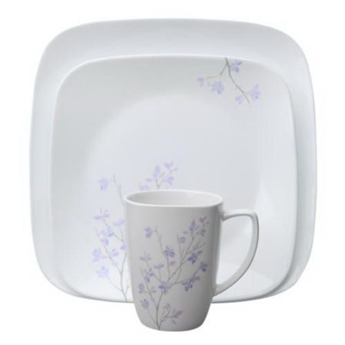 Corelle 1106610 Square Jacaranda 16-pc Dinnerware Set