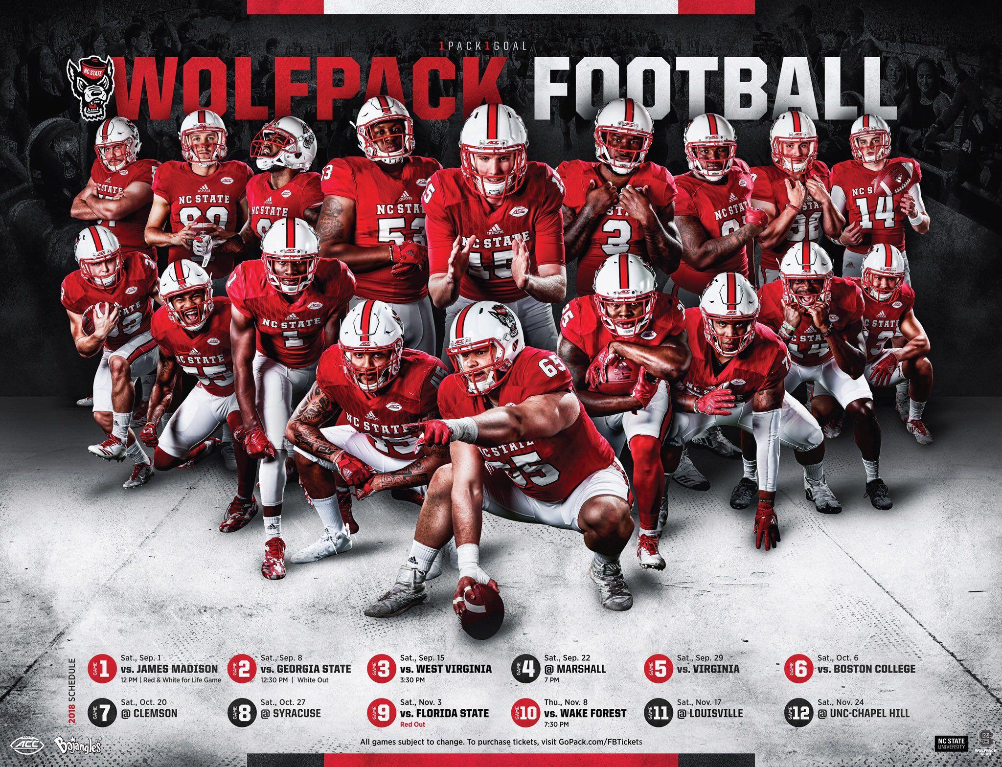 Pack Creative On Twitter Ncaa College Football Football College Football Schedule