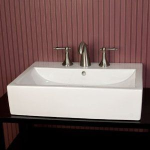 Avalon Rectangular Vessel Sink 8 Widespread Faucet Drillings White Home Improvement