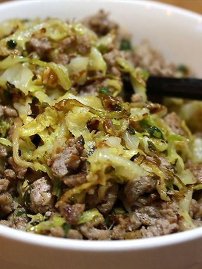 Ground Turkey \u0026 Cabbage Stir,Fry