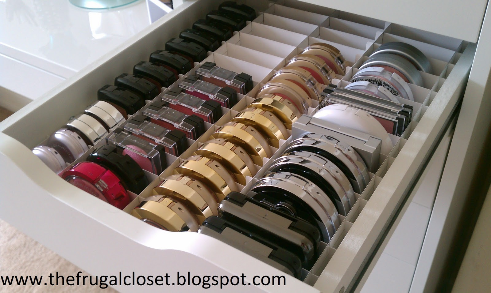 The Frugal Closet: The IKEA Alex Storage And Hand Made Dividers.