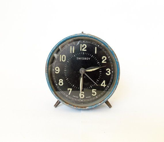 Extremely rare SWISS  vintage  alarm clock/Swiss by HallderVintage, €55.00
