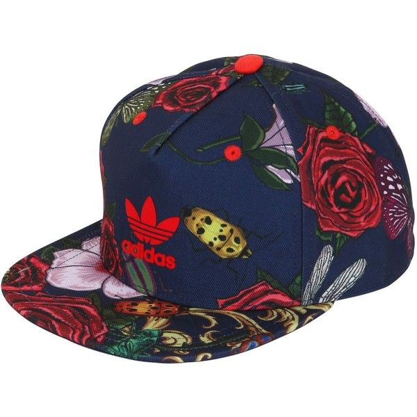 666ccc523df9a ADIDAS ORIGINALS BY RITA ORA Floral Printed Baseball Hat - Red Blue ( 12) ❤  liked on Polyvore featuring accessories