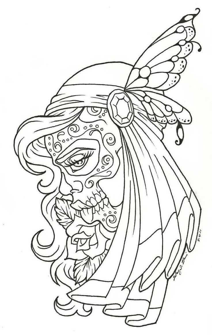 sugar skull girl coloring pages - Google Search | coloring ...
