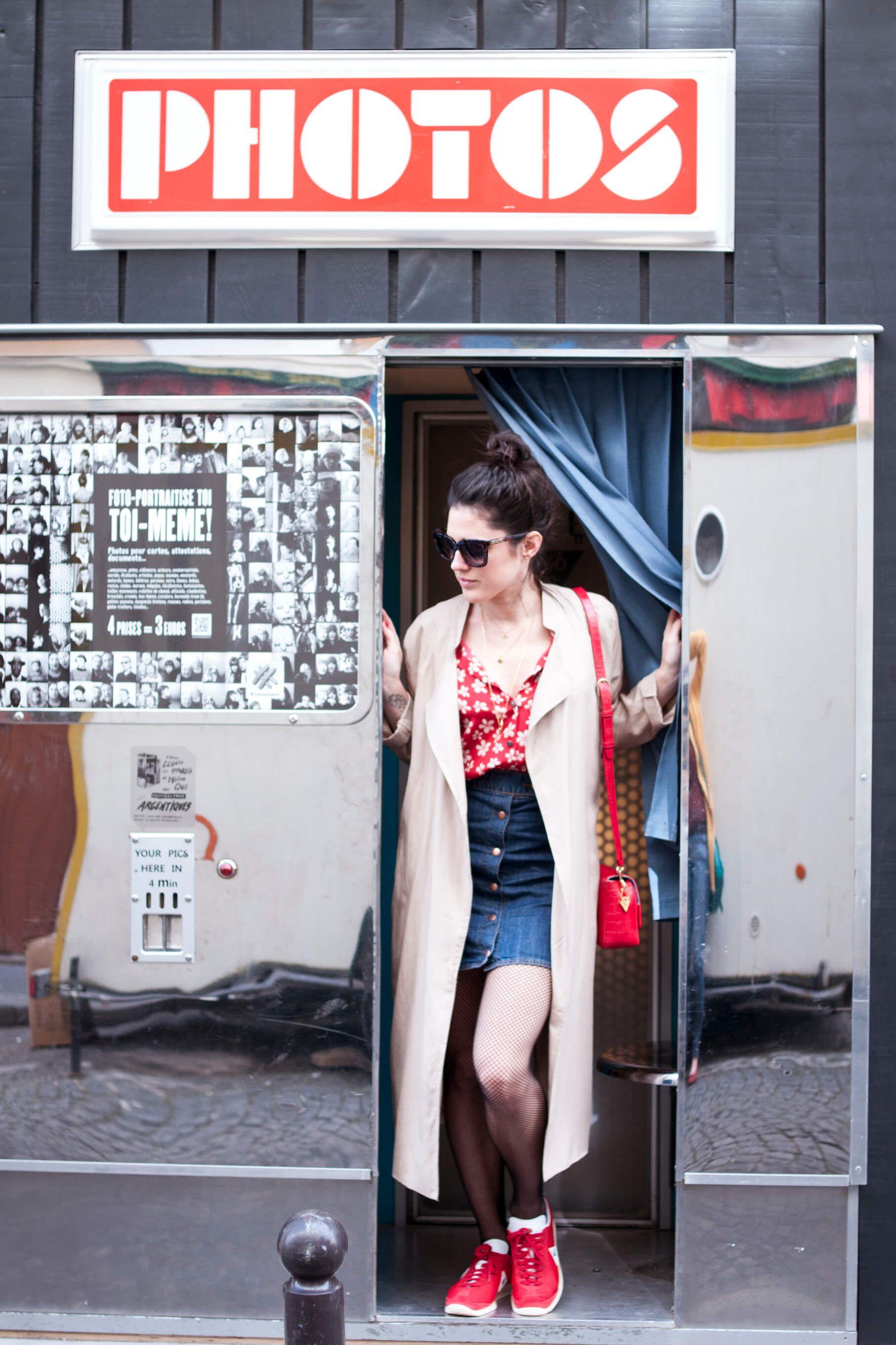 Look vintage Montmartre L'atelier d'al blog mode lifestyle Paris photomaton