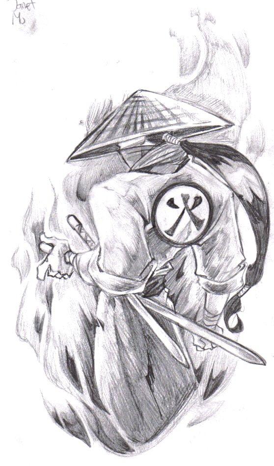 Samurai Tattoo Design By Biggcaz On Deviantart Com Imagens