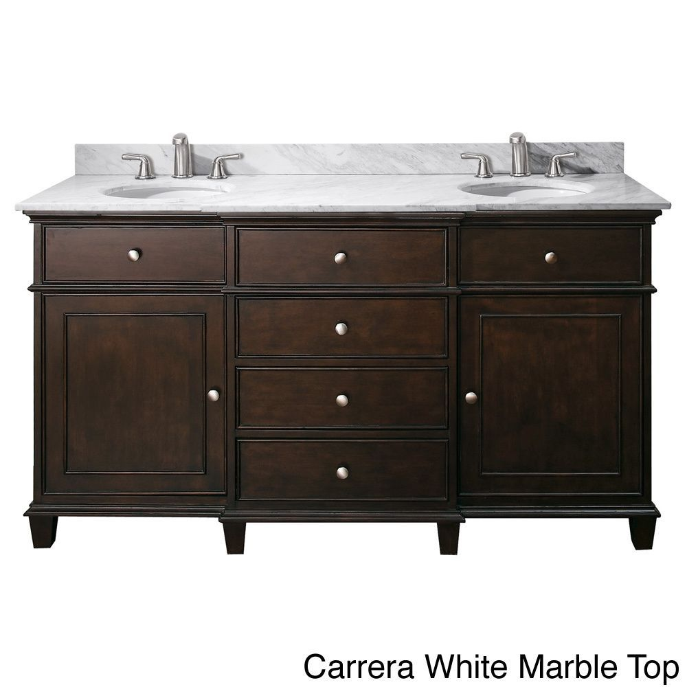 Avanity Windsor 60 Inch Double Vanity In Walnut Finish with Dual