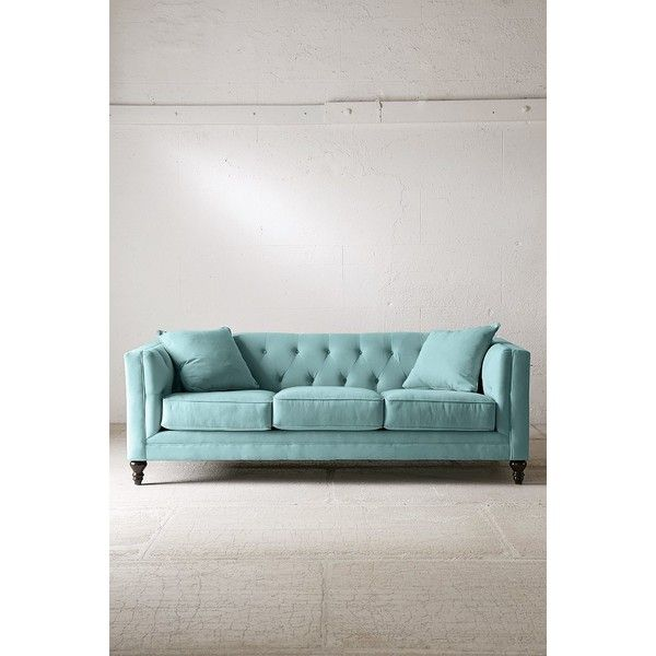 Graham Microfiber Sofa Victorian Inspired Sofa With Insanely Soft Microfiber  Upholstery. Complete With A Tufted Seat Back And Three Seat Cushions, ...