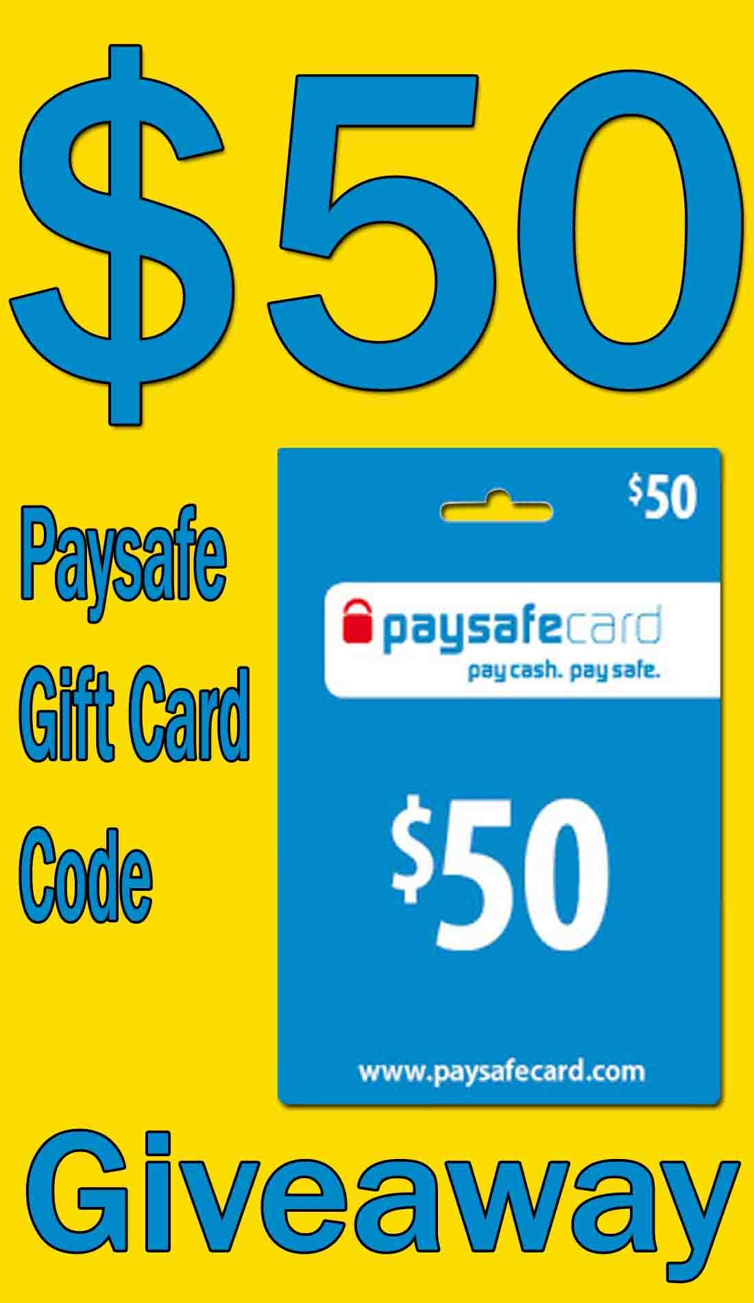 Free 50 Paysafe Gift Card Code Giveaway Cards Gift Card Gift Card Giveaway