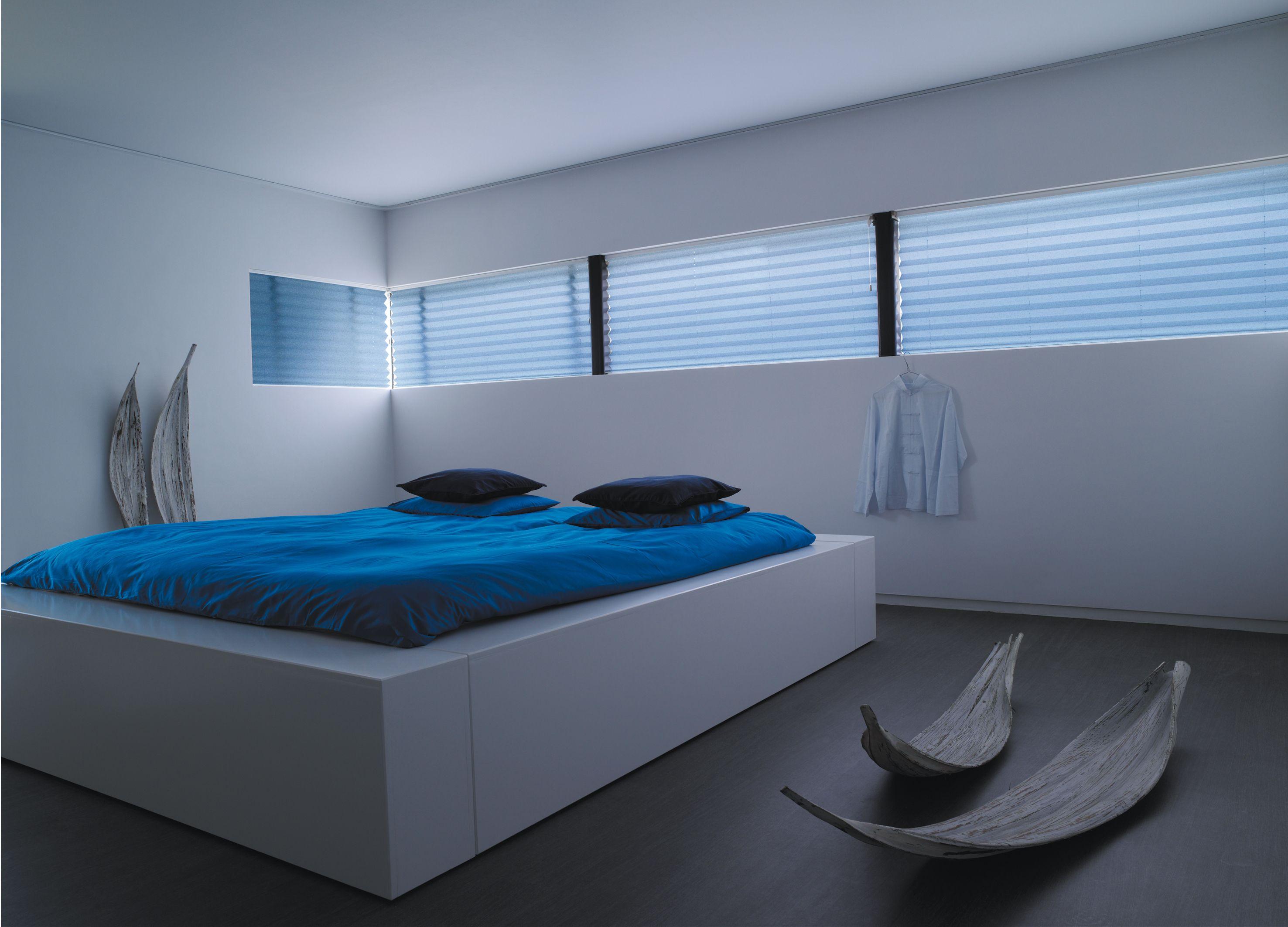 plisse gordijn 64 mm zon en scherm bv blauw de nieuwe trend van