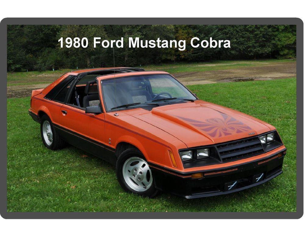 1979 Ford Mustang Cobra  Auto  Refrigerator Tool Box Magnet