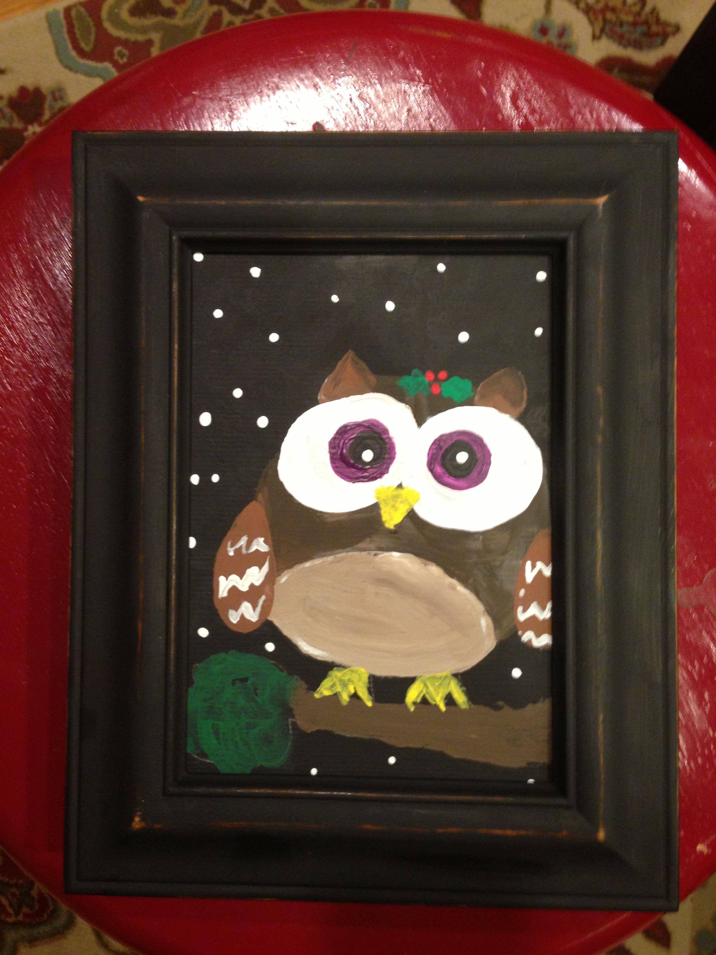 Gabrielle age 7 Christmas Owl