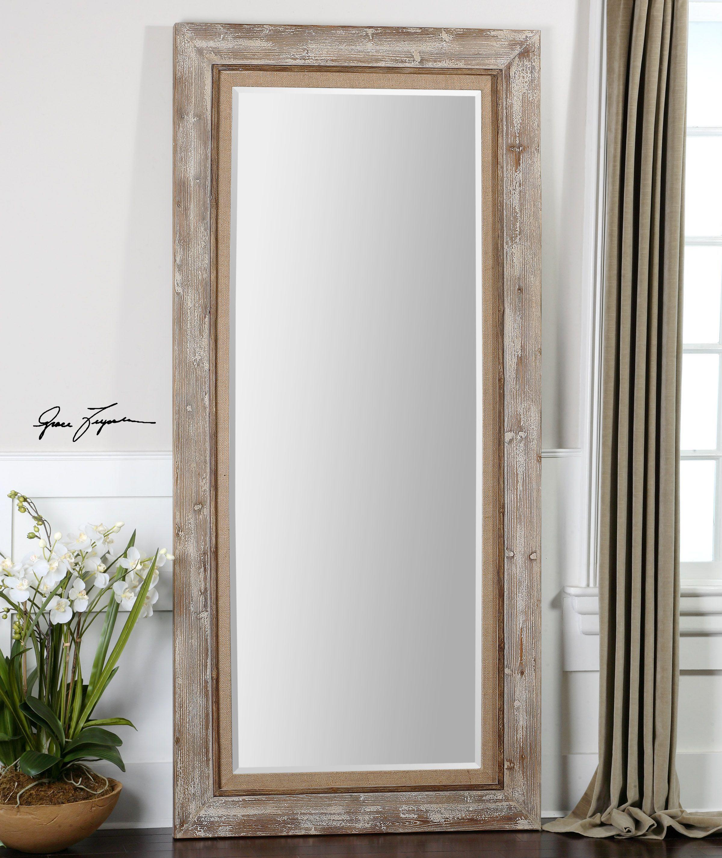 Uttermost Fardella Wood Floor Mirror 13850