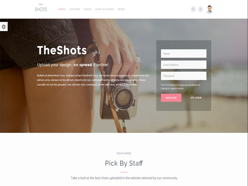 Theshots Is A Photography Free Html Template For Photography