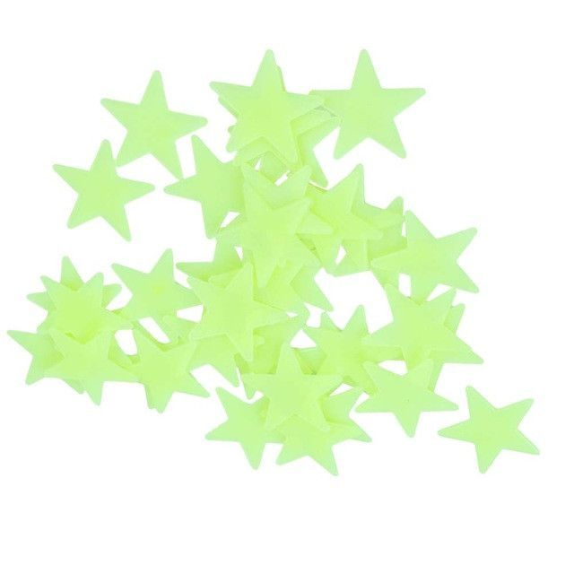 fb5078be14 100pcs lot Glow Wall Stickers Decal Baby Kids Bedroom Home Decor Color  Stars Luminous Fluorescent 4colors