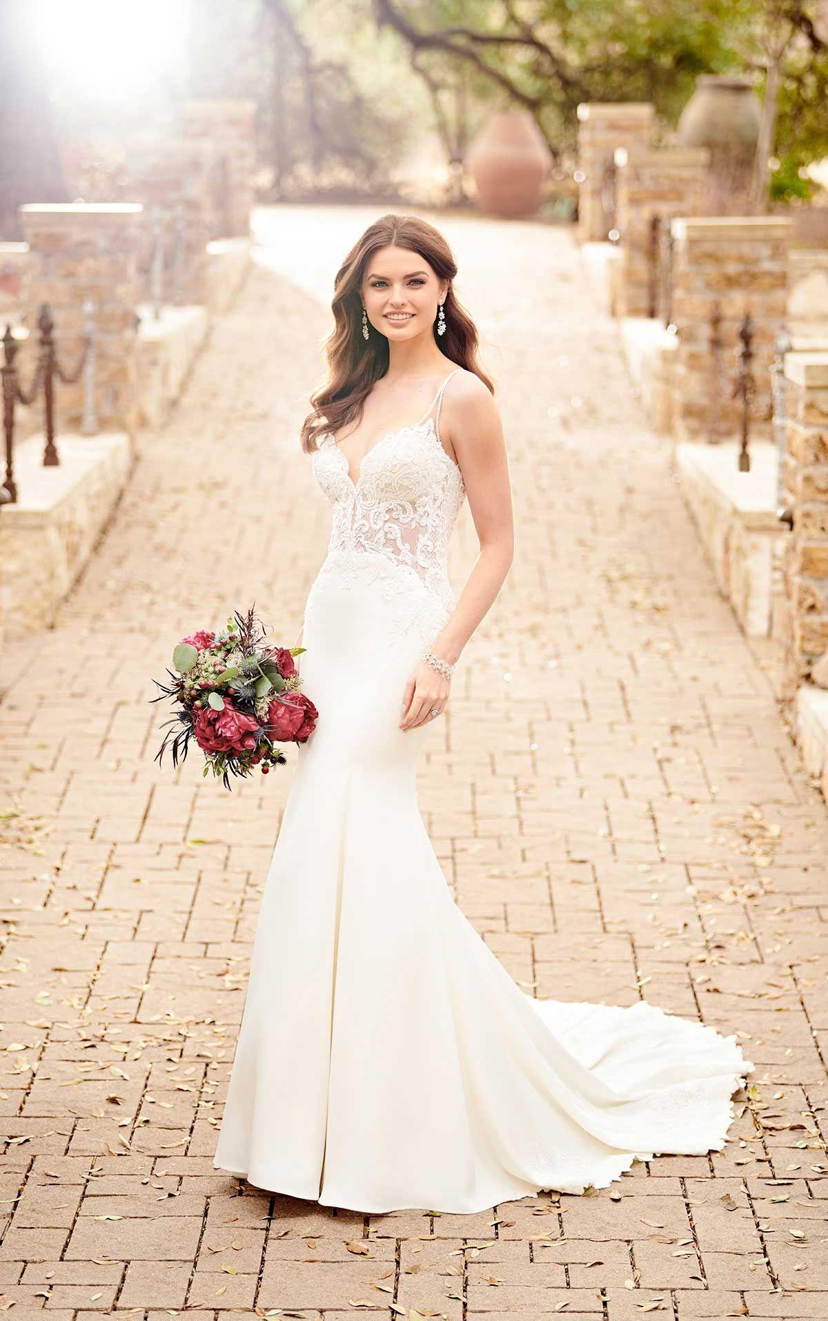 Beaded Sheer Wedding Dress in 2018 | My future wedding | Pinterest ...