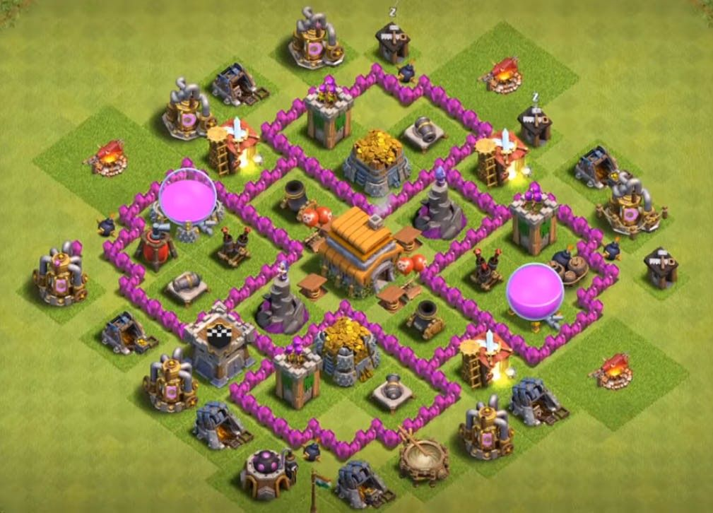 Clash of Clan Bases--COC bases (Town-hall 5,6,7,8) - Gaming Tadka |  Penyimpanan, Arsitektur