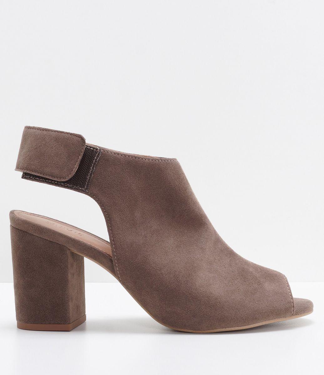 Compre Elegante De Camurça Sintética Patchwork Sandálias De