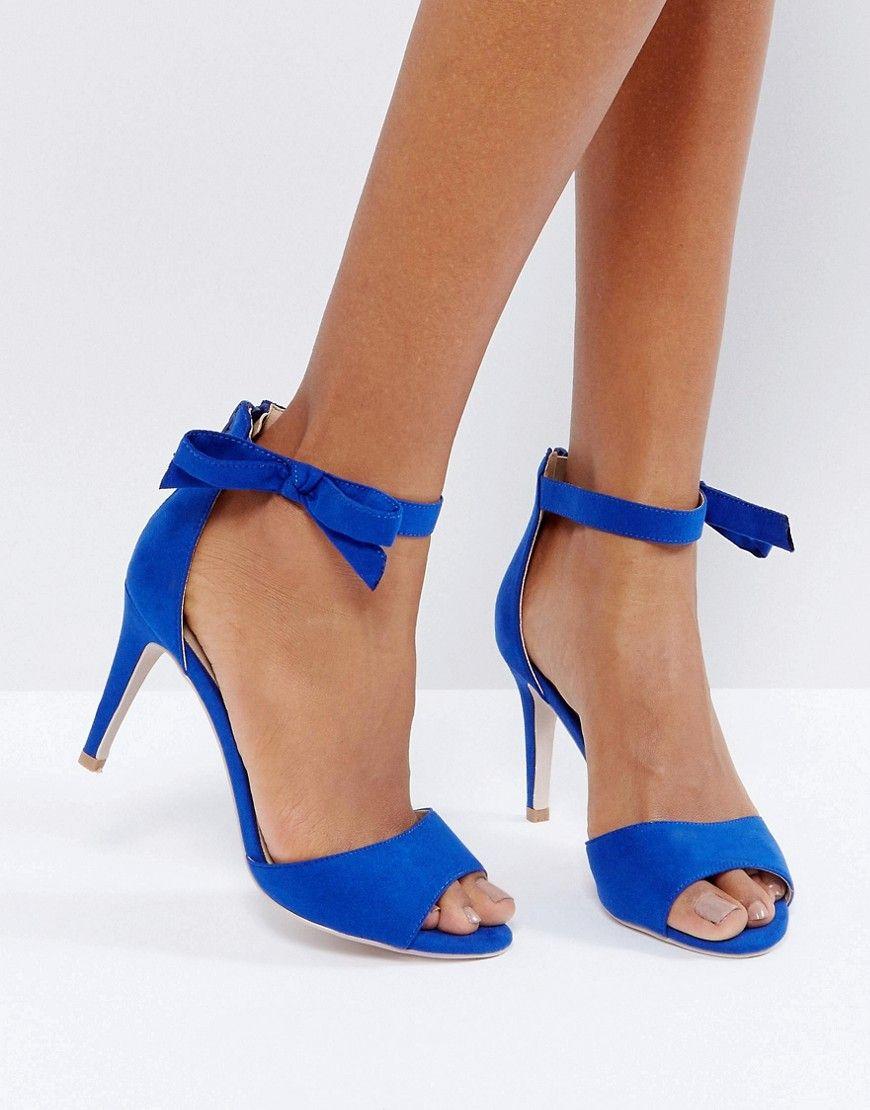 396738514a Coast Millie Ankle Bow Strap Shoe - Blue | Products | Fashion, Dress ...