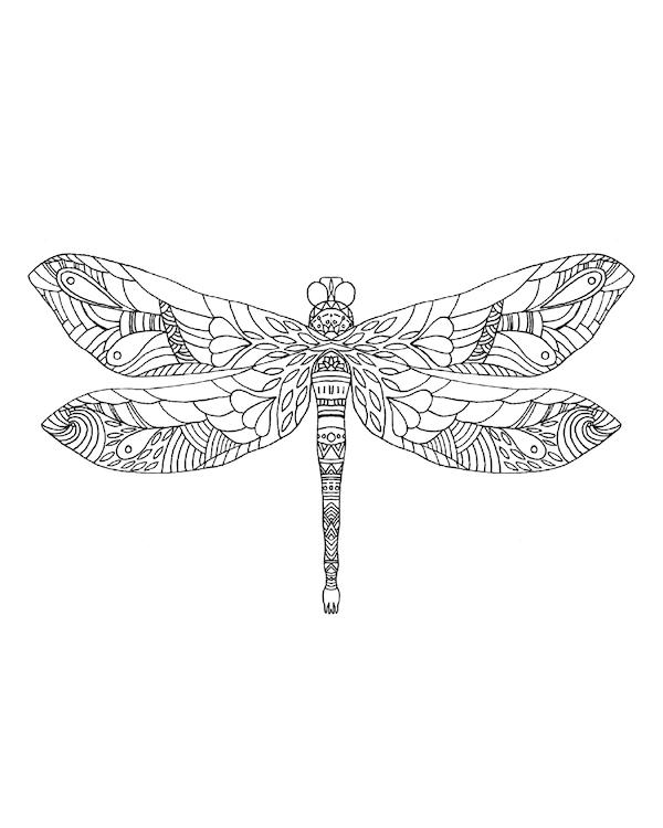 Aztec Dragonfly Print Dragonfly Prints Dragonfly Artwork Dragonfly Drawing