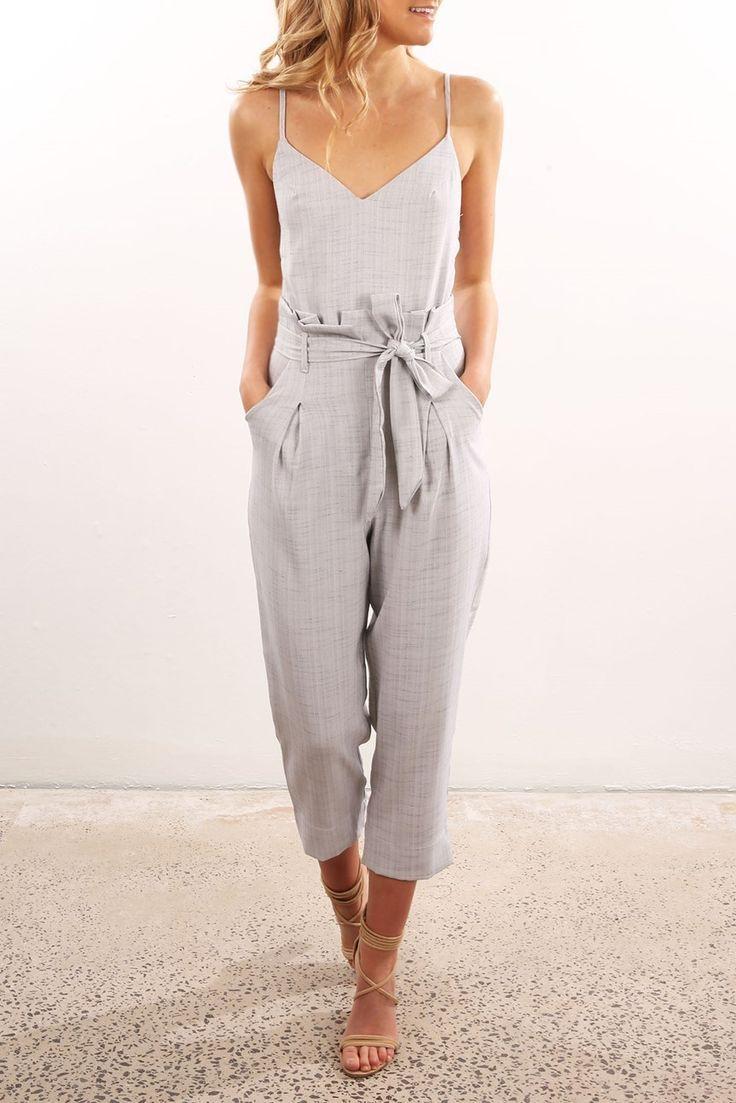 4900334a2312 Little Miss Jumpsuit Grey