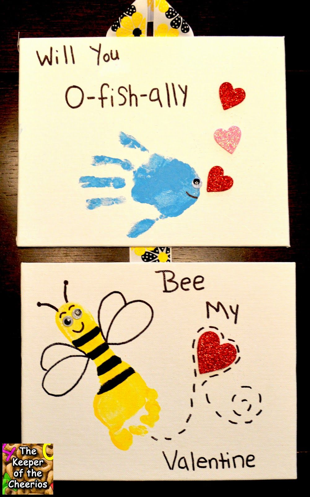 Valentines Day Hand And Footprints Will You O Fish Ally Bee My