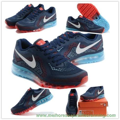 38504d3363f Masculino-Mulheres Azul Recall Vivid Azul LT Carmesim Branco 621077-416 Nike  Air Max 2014 tenis barato