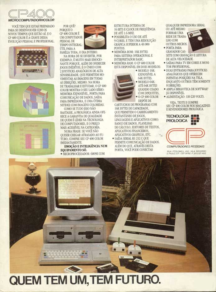 CP-400 da Prológica. Meu primeiro computador. 1984.