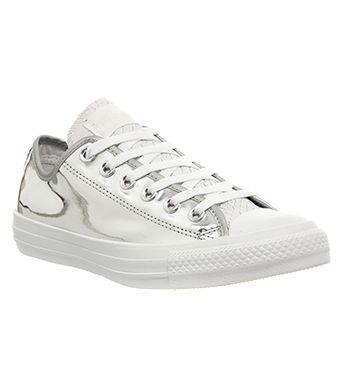 Converse Converse All Star Low Liquid Silver White Snake Exclusive - Unisex  Sports