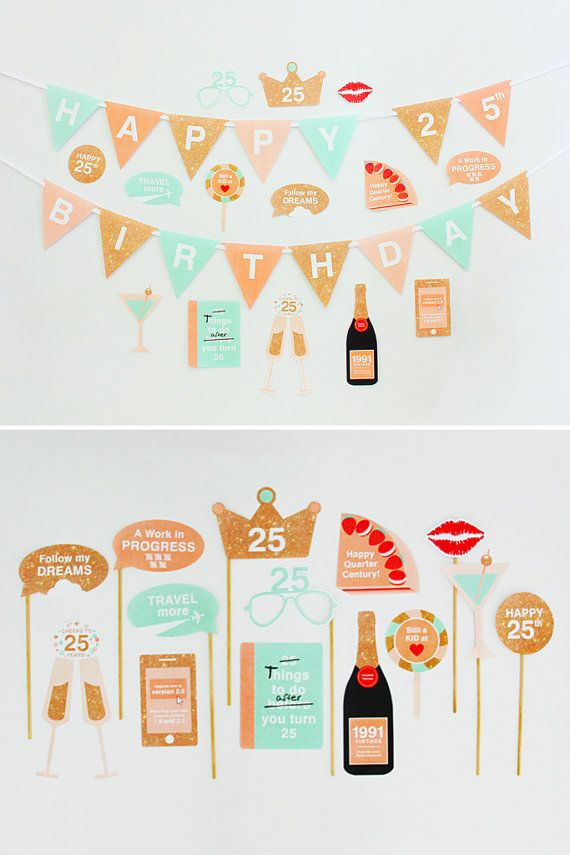 25th Birthday Party Decorations Photo By CreativeSenseCo