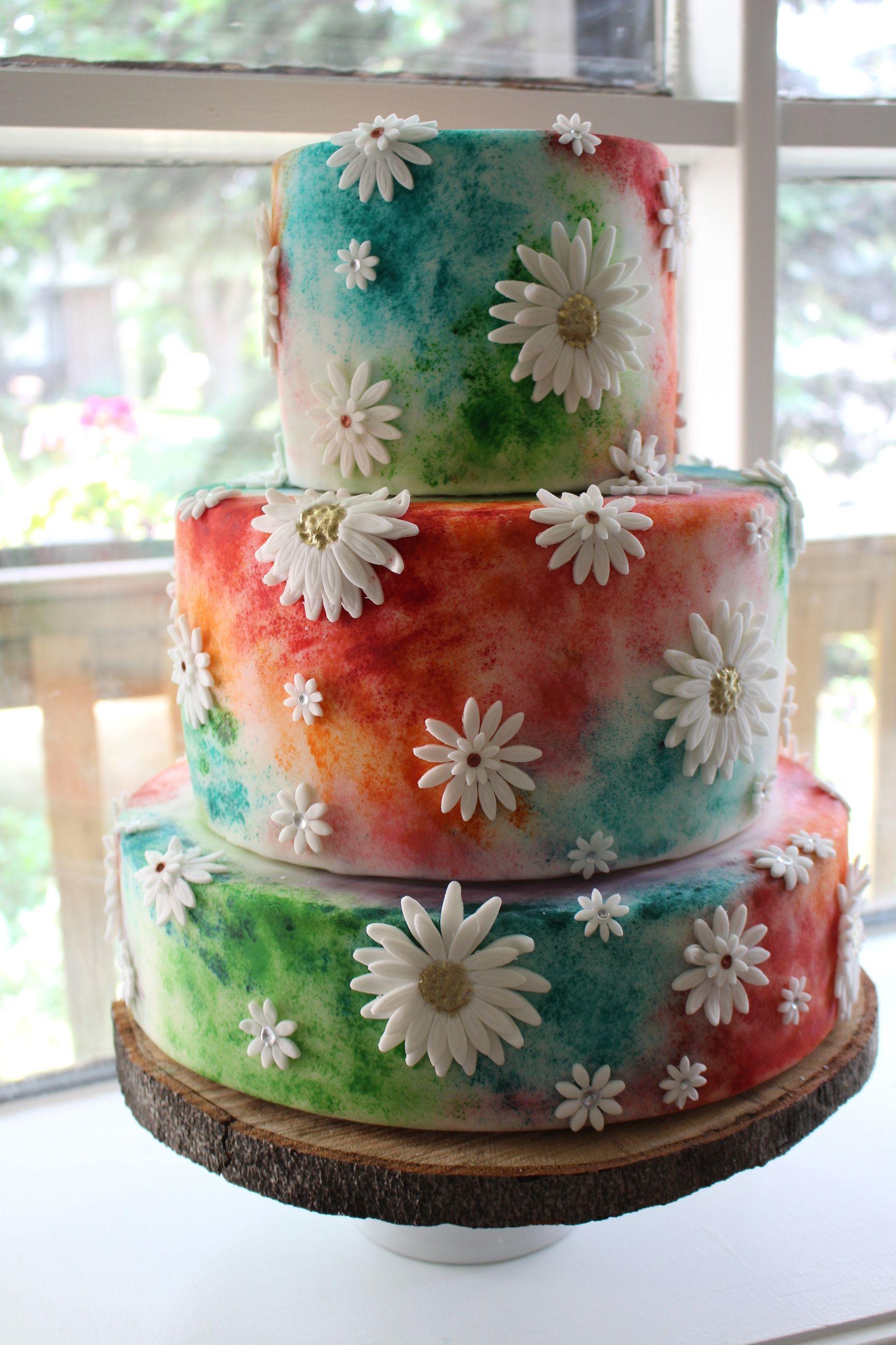 Hippie wedding cake … | Wedding | Pinterest | Hippie weddings ...