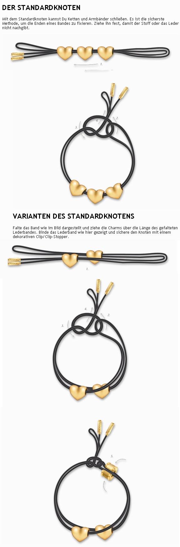 pandora lederarmband binden