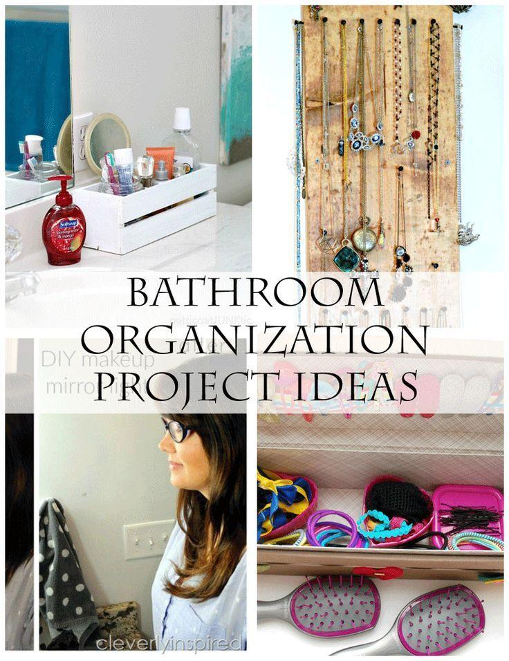 Bathroom Organization DIY Projects