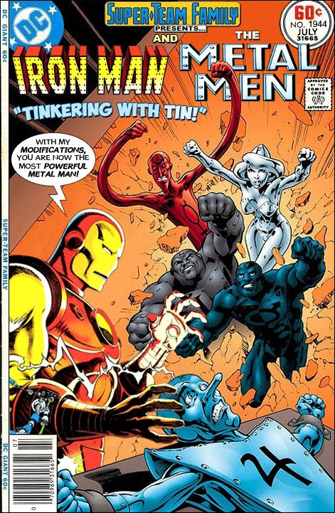 Super Team Family The Lost Issues Iron Man And The Metal Men In Tinkering With Tin Spiderman Comic Charlton Comics Spectacular Spider Man