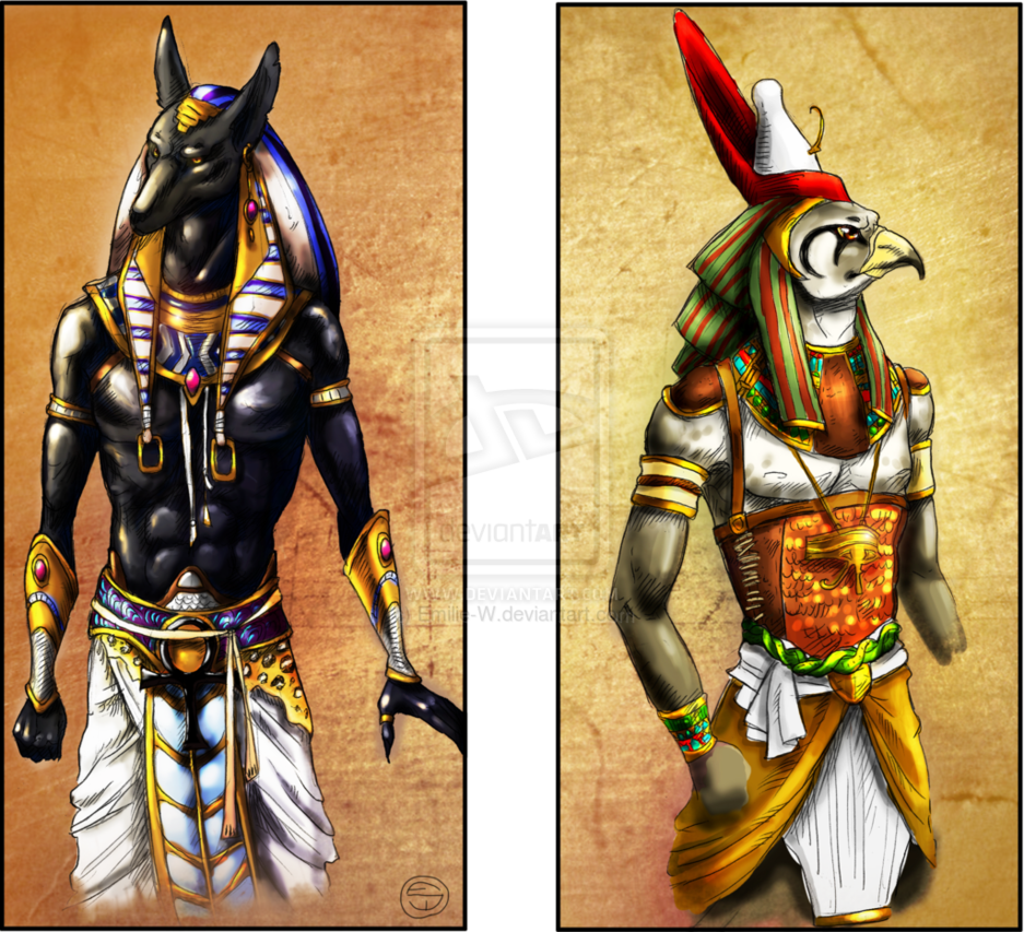 Anubis and Horus by Emilie-W | Tattoo | Anubis, horus