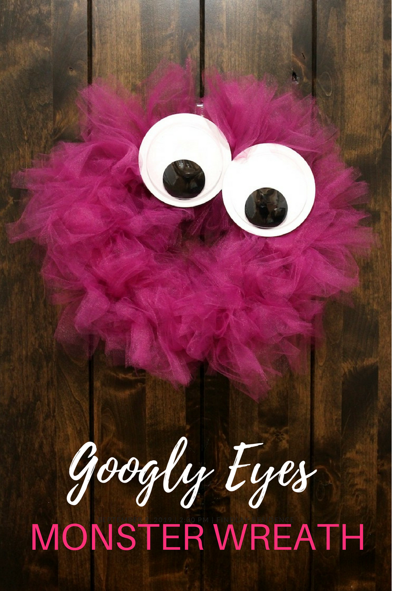 Diy Googly Eyes Monster Wreath With Images Monster Wreath