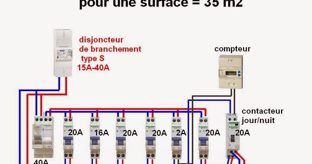 schéma tableau électrique domestique -câblage et branchement d\u0027un - Schema Tableau Electrique Maison