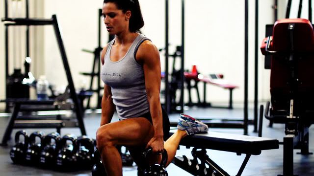 2/6/12 - STRENGTH: split squat, overhead tricep extension