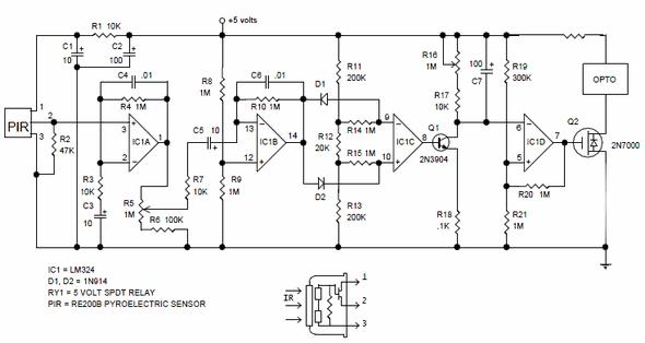 Pir Motion Detector Control Circuit Pir 325 Motion Detector Circuit Analog Circuits