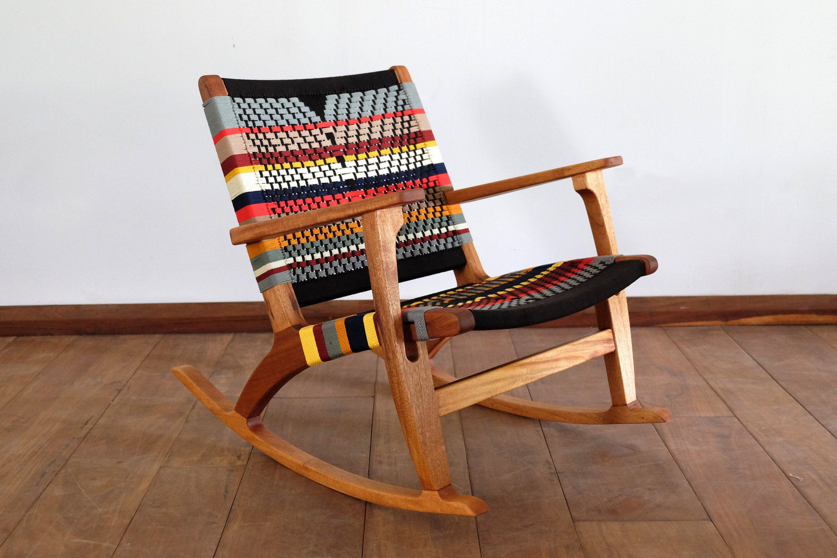 Mid Century Modern Rocking Chair Accent Chair Lounger Chair Etsy