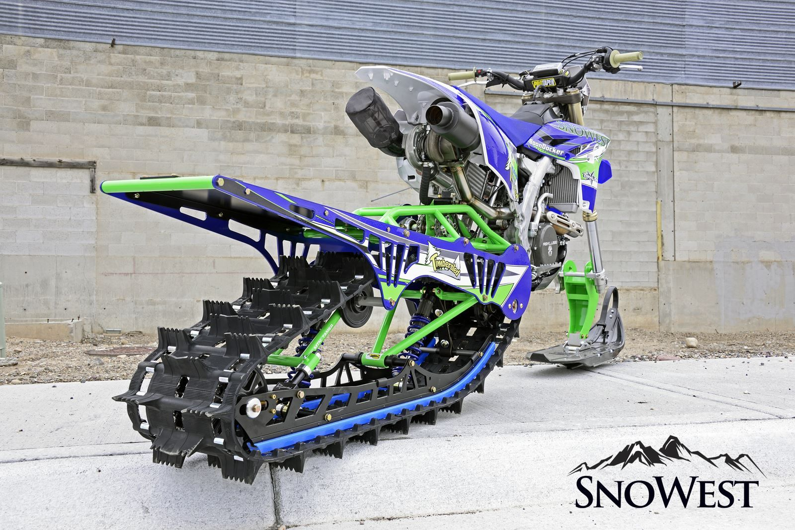 Snowest Snow Bike Build Bringing Single Track To The Steep And