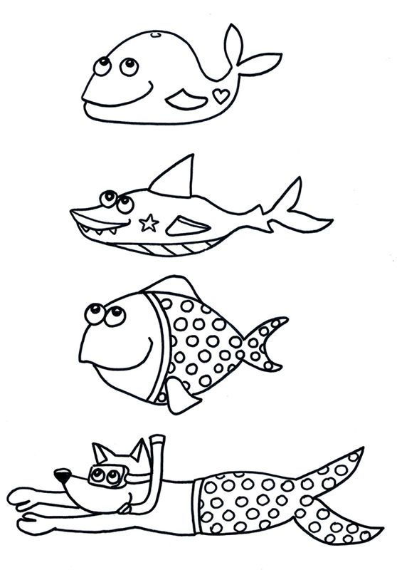 Coloriage Poisson D Avril Rigolo à Colorier Dessin à