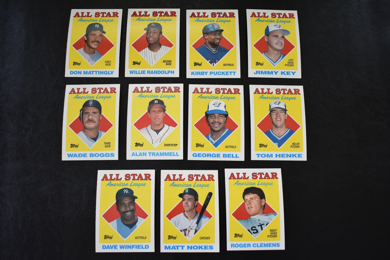 1988 topps all star american league baseball roger
