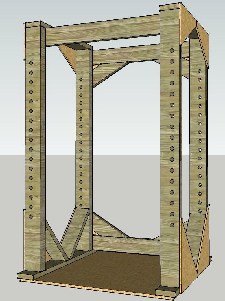 Wood Power Rack Plan | Wooden Power Rack | Pinterest | Power rack ...