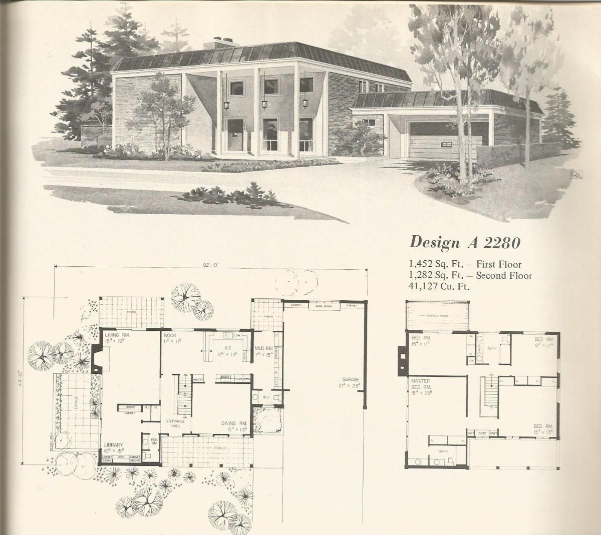 Vintage House Plans Mid Century Homes House Plans Vintage