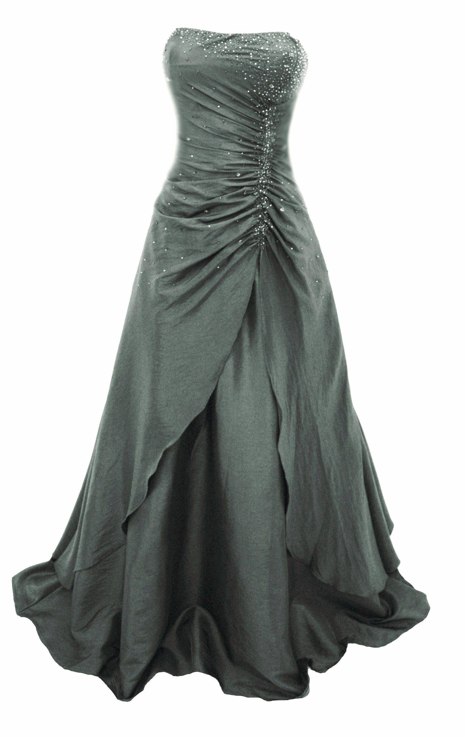 Ich mag den SCHNITT. Abendkleid silber grün | Abendkleid ...